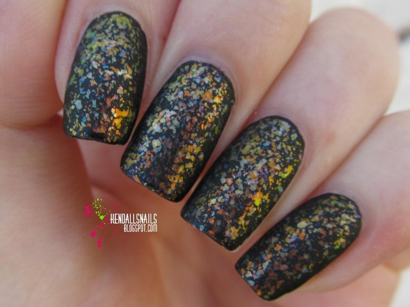 Matte Flakies nail art by Julia Friedel