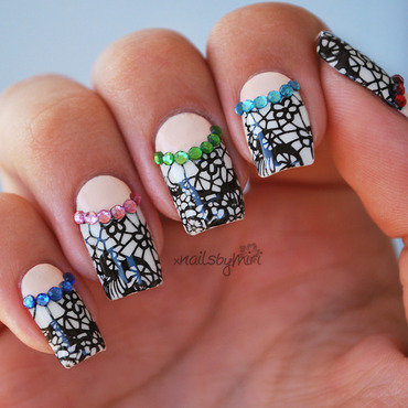 Colorful Diamonds nail art by xNailsByMiri