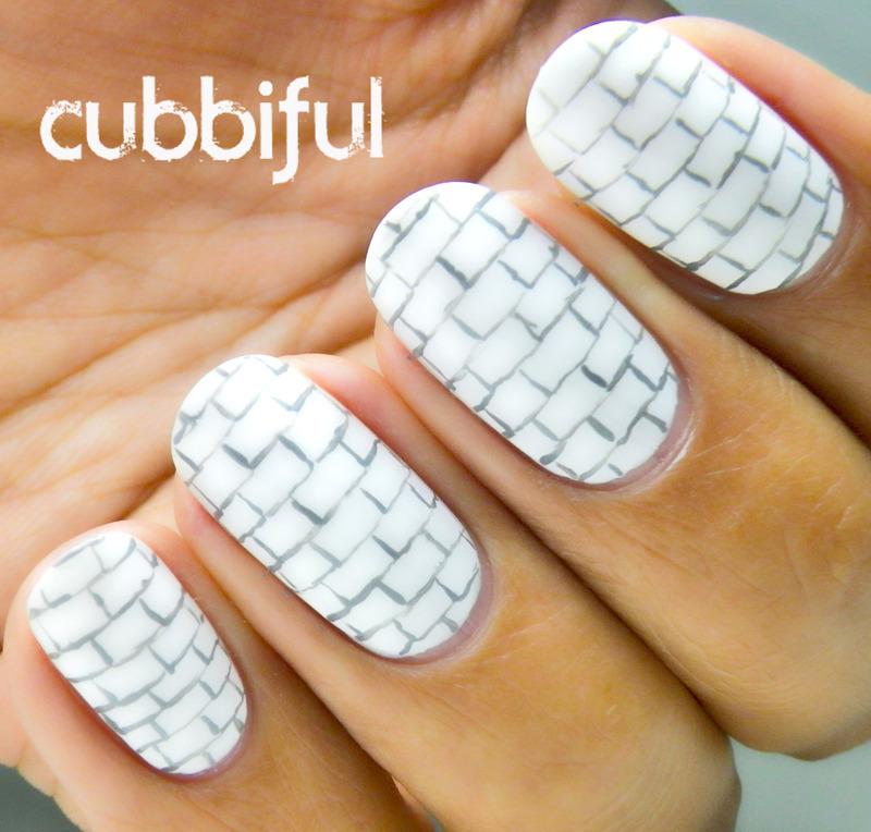 The Wall nail art by Cubbiful & The Wall nail art by Cubbiful - Nailpolis: Museum of Nail Art