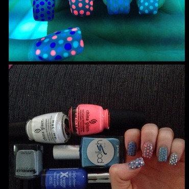 Multi-Colored Dotting nail art by Dana  Nicole