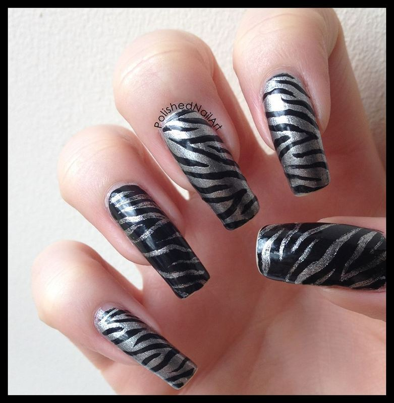 Metallic Zebra Nail Art By Carrie Nailpolis Museum Of Nail Art