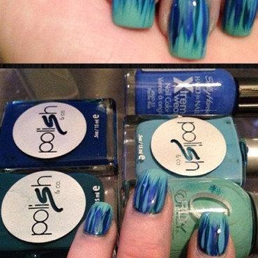 Blue Brushstrokes 2 nail art by Dana  Nicole