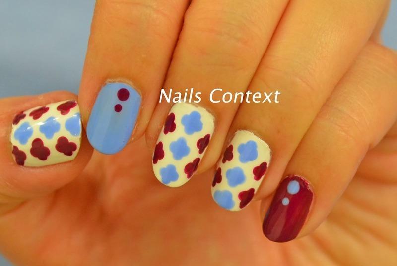 Quatrefoil  nail art by NailsContext