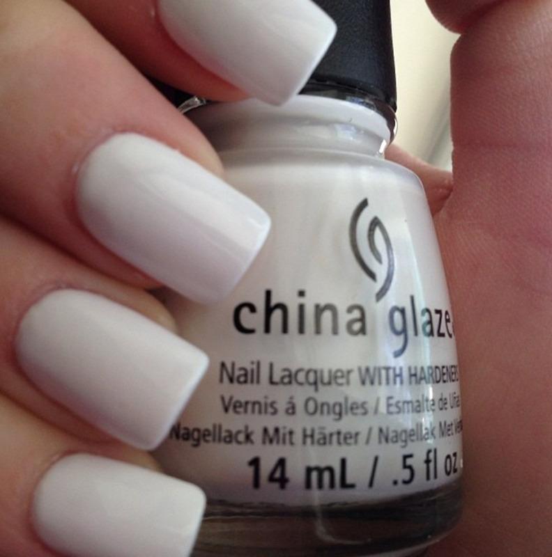 China Glaze White on white Swatch by Dana  Nicole
