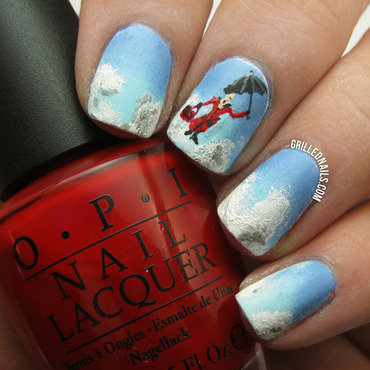 Mary Poppins Nails nail art by Hector Alfaro