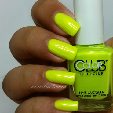 Color Club Not-So-Mellow Yellow Swatch by OnailArt