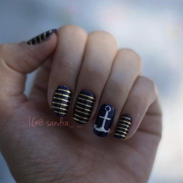 Nautical nail art by Sandra