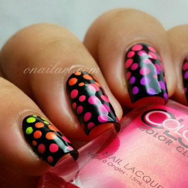 Poptastic nails nail art by OnailArt