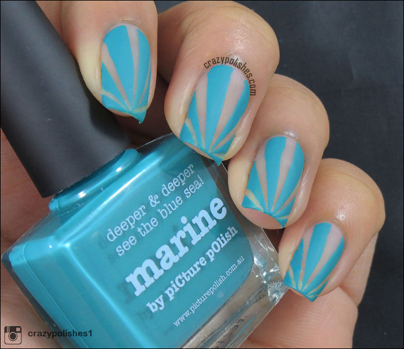 Negative Space nail art by CrazyPolishes (Dimpal)