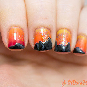 #31DC2014 Day Twenty-Two: Inspired by a Song nail art by Julie