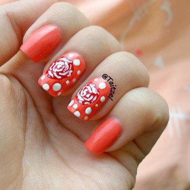 Roses nail art by Teo