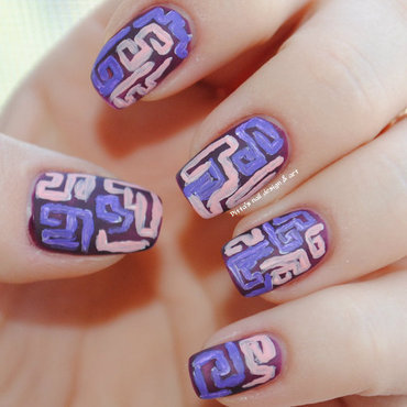 Tribal design nail art by Ditta