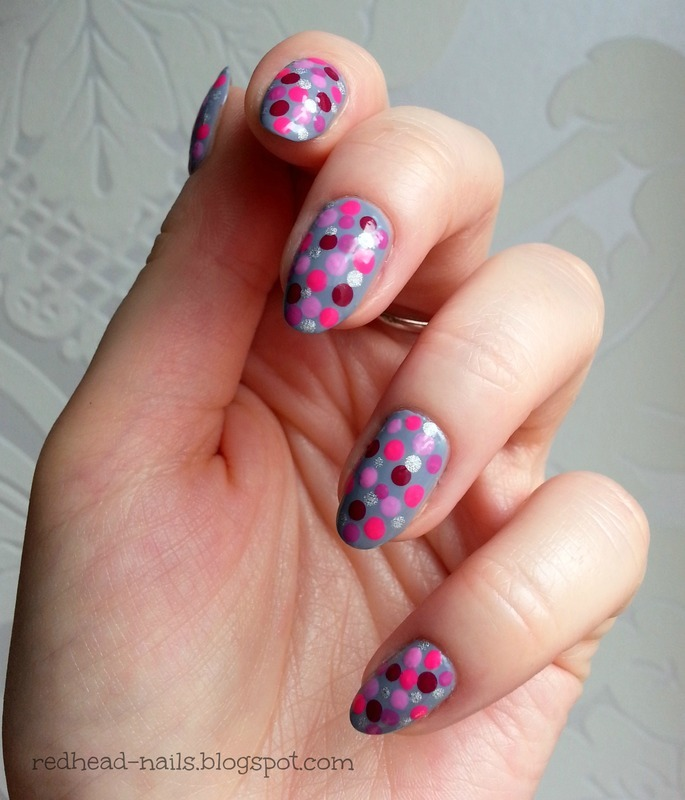 Dotties nail art by Redhead Nails