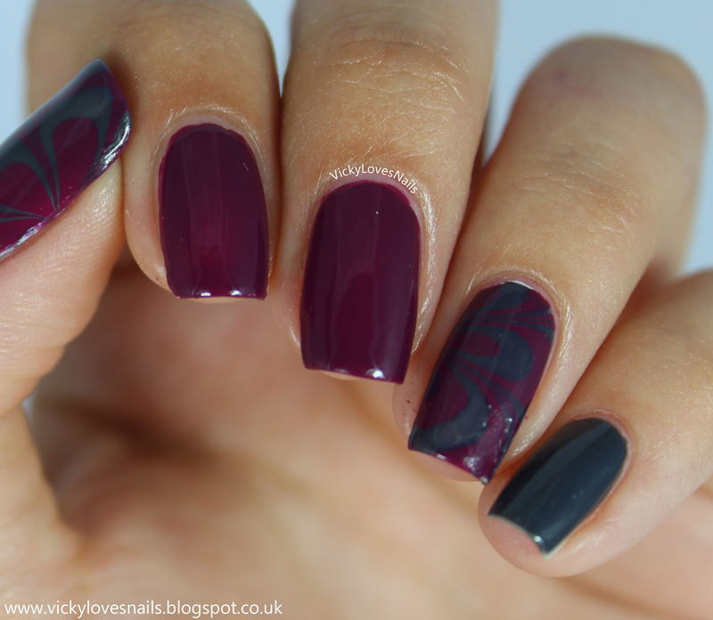 Zoya Watermarble nail art by Vicky Standage