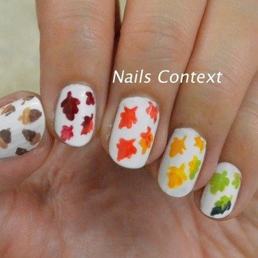 Fall Leaves nail art by NailsContext