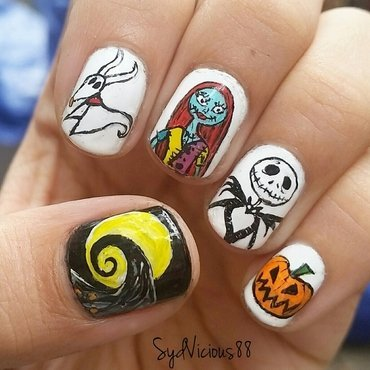 The Nightmare Before Christmas nail art by SydVicious