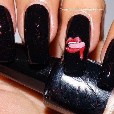 True Blood nails nail art by Margriet Sijperda
