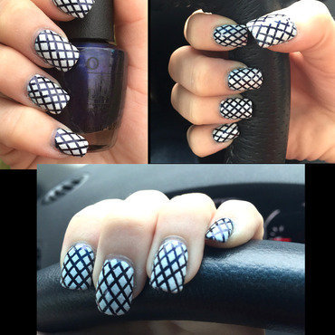 Striping Tape with Texture nail art by Dana  Nicole