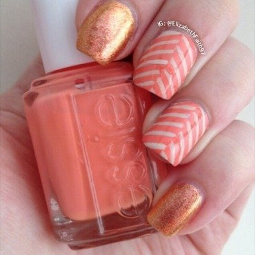 Herringbone! nail art by PolishIsSweet