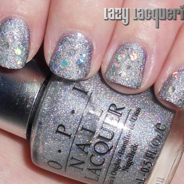 OPI Coronation DS and BYS Silver Moon Sparkle Swatch by Relle Chastain