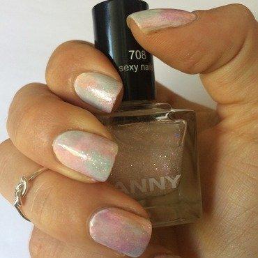 Cotton Candy Nails nail art by Ella