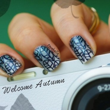 welcome autumn nail art by Pmabelle