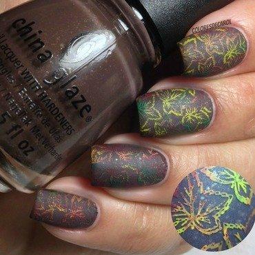 Welcome Autumn! nail art by Carolina Garcia
