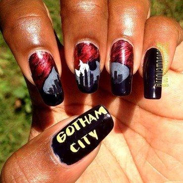 Gotham nail art by Tonya Simmons