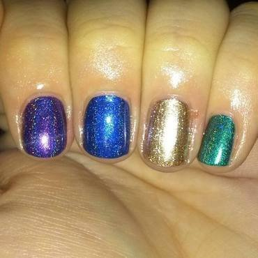 Julep Zelda, ILNP Rehab, ILNP Summer Stargazing, and ILNP Purple plasma Swatch by Mama's Manicures (maherwoman)