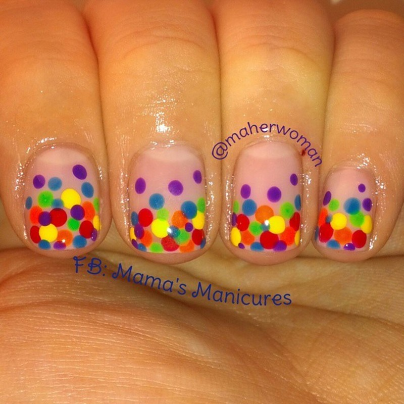 PRIDE dotticure! nail art by Mama's Manicures (maherwoman)