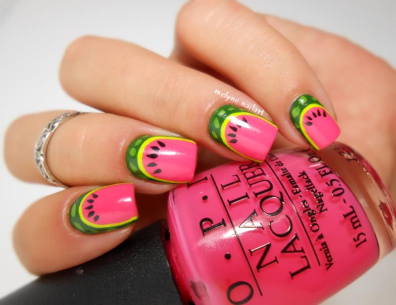 Watermelon nail art nail art by melyne nailart - Nailpolis: Museum ...