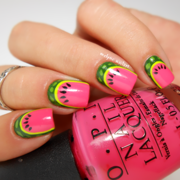 Watermelon nail art nail art by melyne nailart