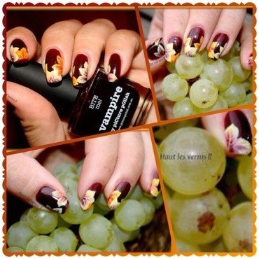 Automn nail art by Elodie Mayer