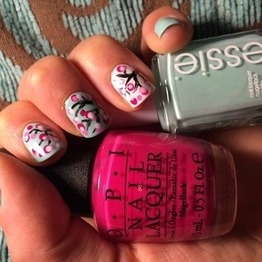 Cherry Blossom nail art by Ella