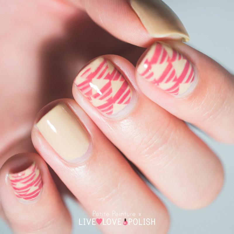 Triangles nail art by Petite Peinture