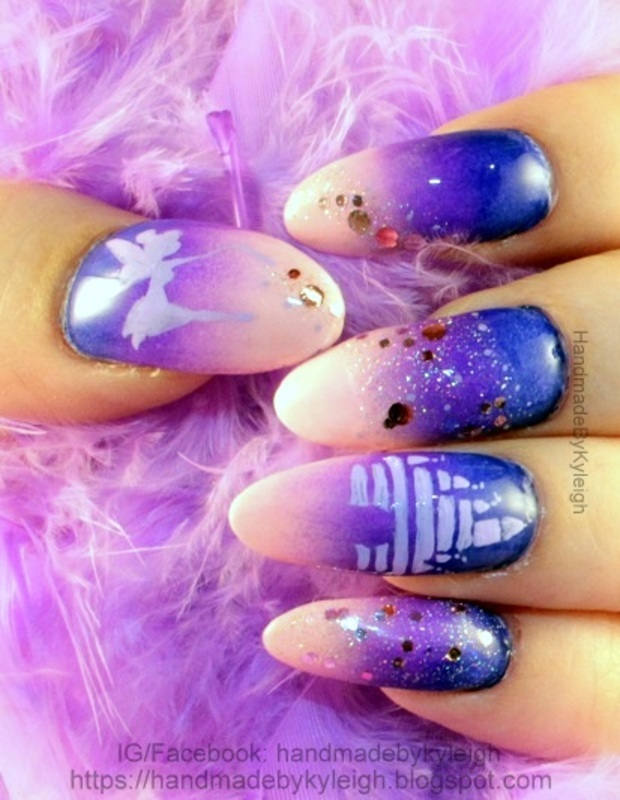 Think Tink nail art by  Kyleigh  'Handmade By Kyleigh'