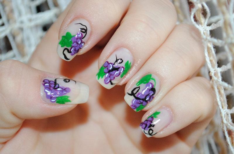 Grapes nail art by Ditta