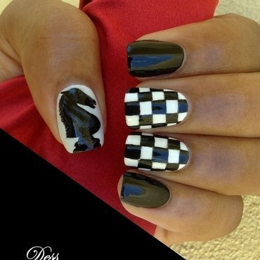 Chessmaster nail art by Dess_sure