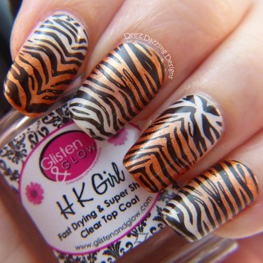 Tiger Print nail art by Denise