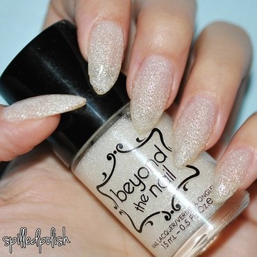Beyond The Nail White Microglitter Swatch by Maddy S