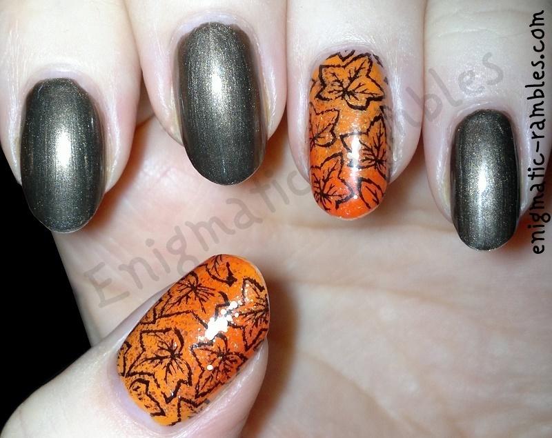 Autumn / Fall Leaves Nails nail art by Enigmatic Rambles - Nailpolis ...