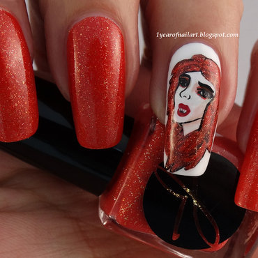 Bon Temps Rousses nail art by Margriet Sijperda