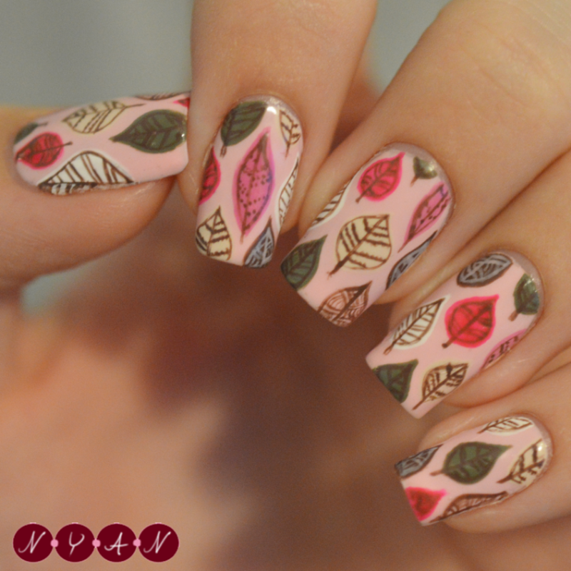 Autumn Leaves nail art by Becca B