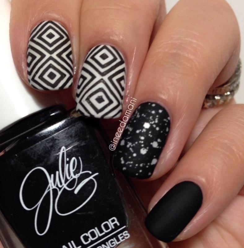 Black And White Geometric Nails Nail Art By Carmen Ineedamani