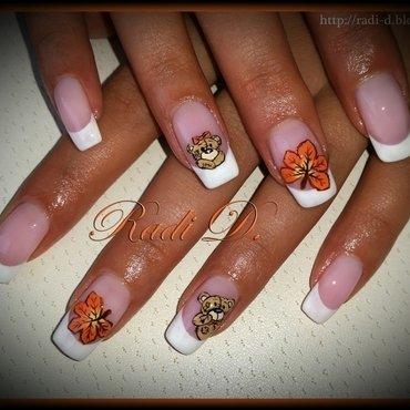 Autumn bears nail art by Radi Dimitrova