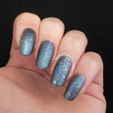 Spell x Shimmer nail art by Squeaky  Nails