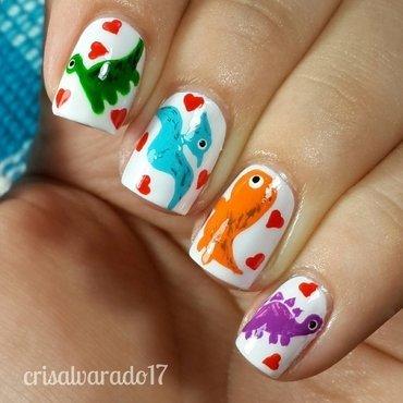 Baby Dinos nail art by Cristina Alvarado