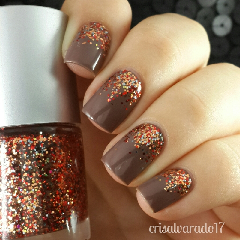 Fall gradient nail art by Cristina Alvarado - Nailpolis: Museum of ...