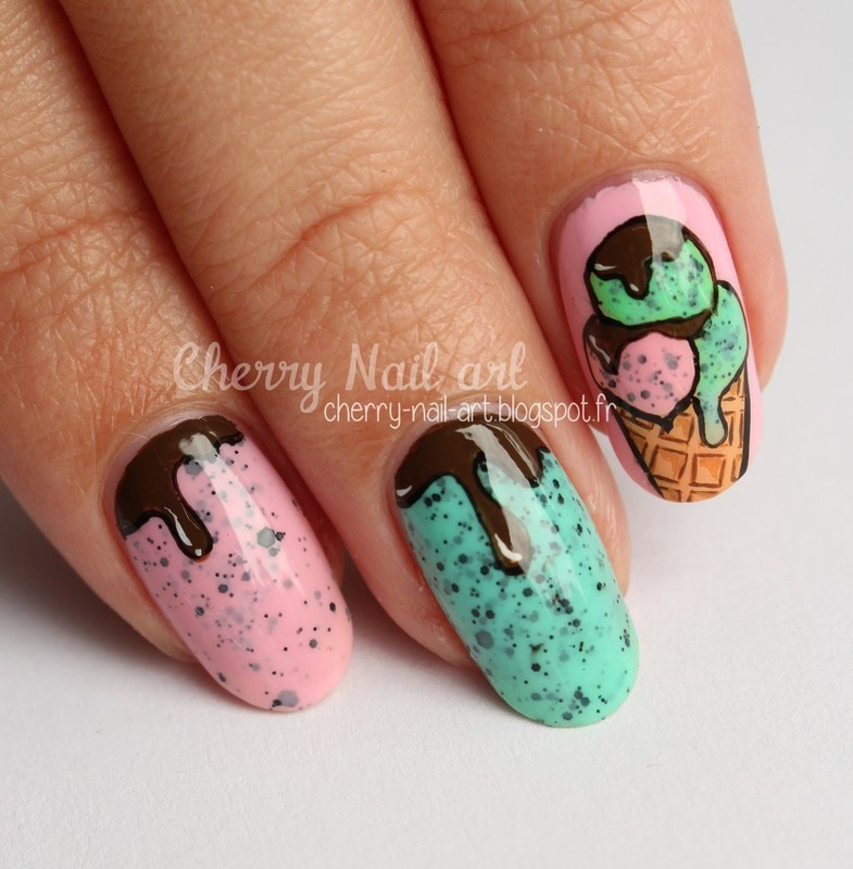 Nail art ice cream nail art by Cherry Nail art - Nail Art Ice Cream Nail Art By Cherry Nail Art - Nailpolis: Museum