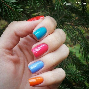 Barry M Blueberry, Barry M Satsuma, and Barry M Grapefruit Swatch by Juli
